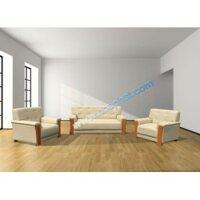 Bộ ghế Sofa phòng khách cao cấp  bọc PVC đen SF33-3