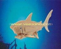 Bộ ghép hình 3D Cá mập trắng Veesano VB-04