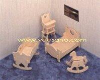 Bộ ghép hình 3D nội thất cho bé Veesano VB-02