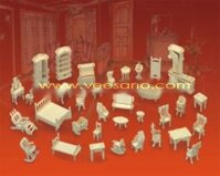 Bộ ghép hình 3D nội thất phòng Veesano VB-08