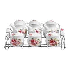 Bộ gia vị 6 món bằng sứ Ceramics Porcelain E524-118 (Họa tiết)