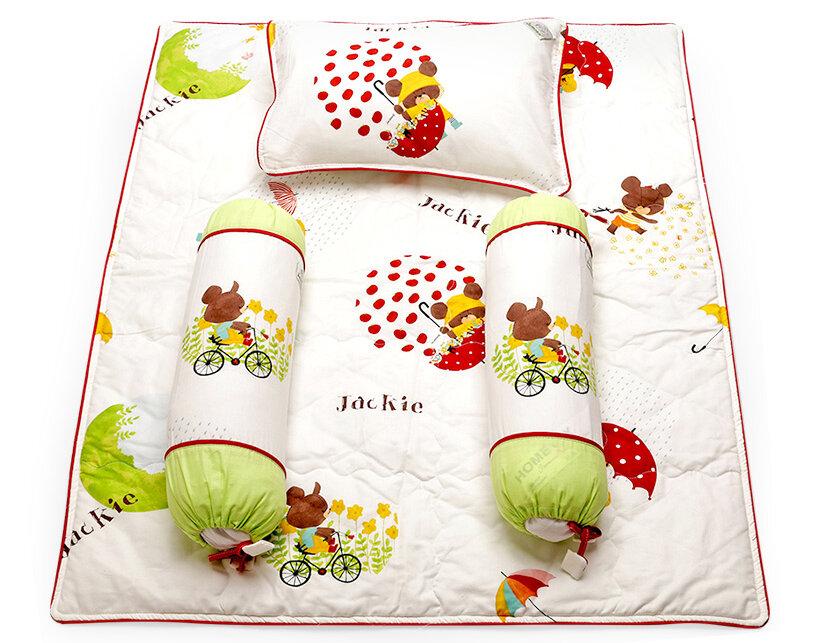 Bộ gối và tấm trải cotton Kid Jamion KKCT13 70 x 90 cm