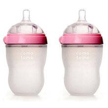 Bộ Hai Bình Sữa Silicone Comotomo CT00004 - 250 ml