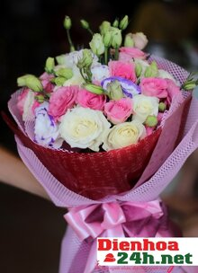 Bó hoa cát tường hồng