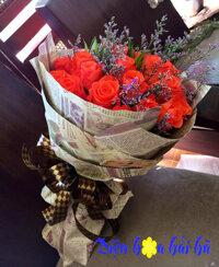 Bó hoa hồng cam