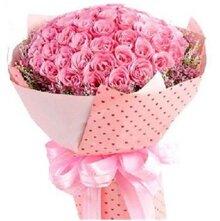 Bó hoa hồng phấn