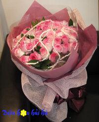 Bó hoa hồng song hỷ