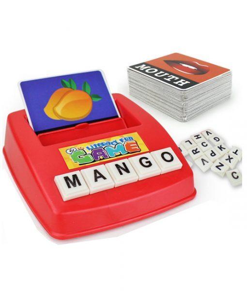 Bộ học từ vựng ghép chữ tiếng anh Literacy Fun Game (mẫu B)