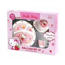 Bộ hộp đựng đồ ăn cho bé Lock&Lock Hello Kitty LKT461S6