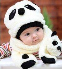 Bộ khăn mũ gấu trúc