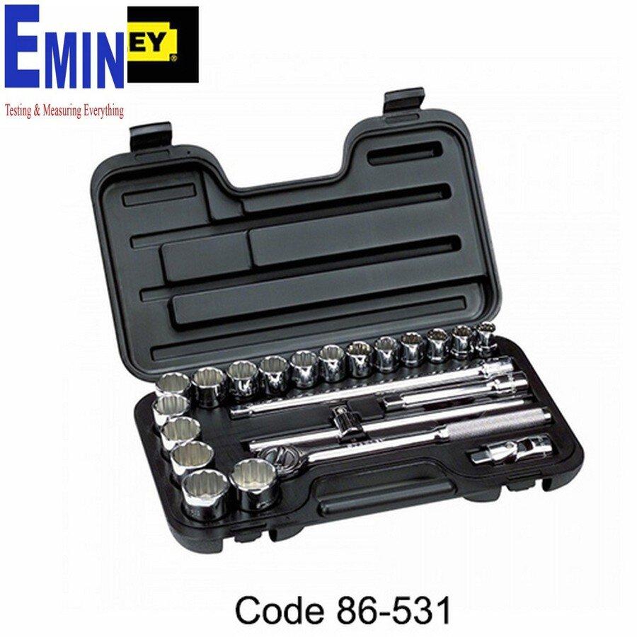 Bộ khẩu Stanley 86-531 - 1/2 inch 12 cạnh gồm 22 chi tiết