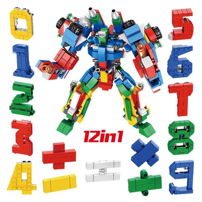 Bộ lắp ráp lego Panlos Brick 12 trong 1 – Mô hình Digital Robot 633021