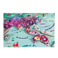 Bộ lắp ráp Lục địa trôi dạt Poomko - Bản đồ thế giới A3