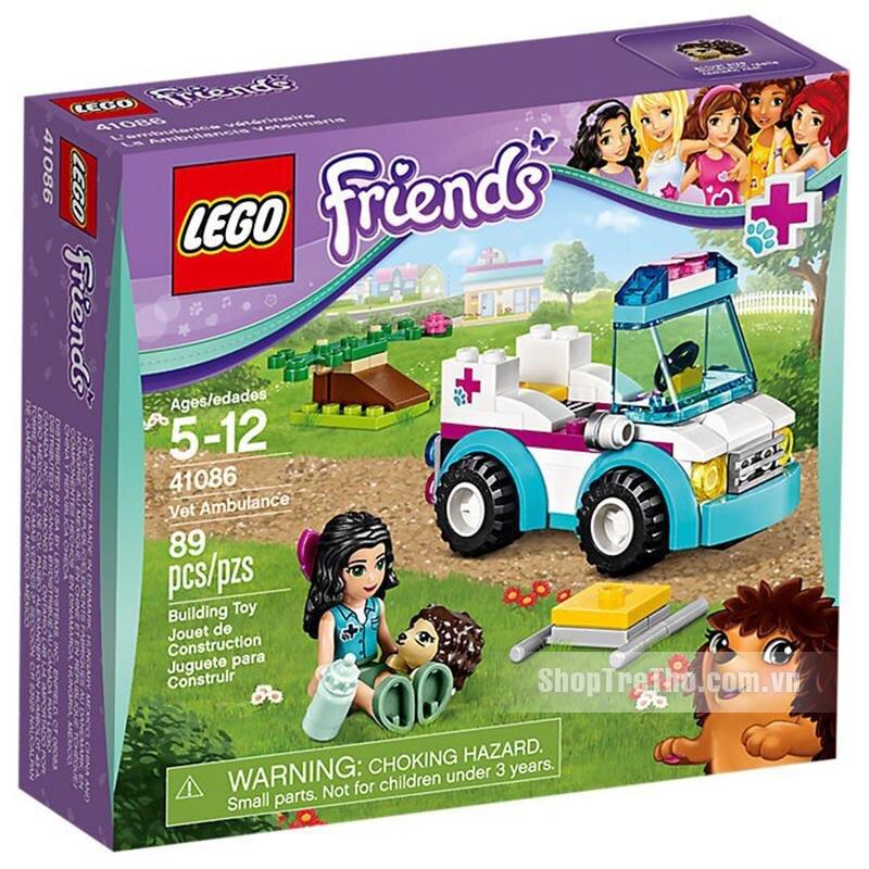Bộ lắp ráp Xe cấp cứu thú nuôi Lego Friends 41086