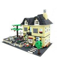 Bộ lego xếp hình Wange biệt thự nhà vườn mẫu 3