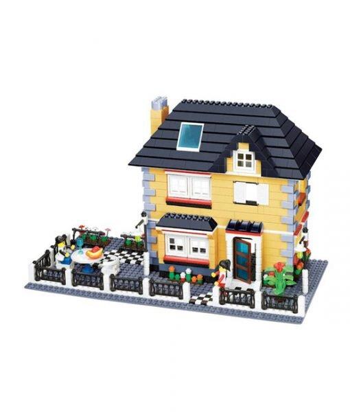 Bộ lego xếp hình Wange biệt thự nhà vườn mẫu 1