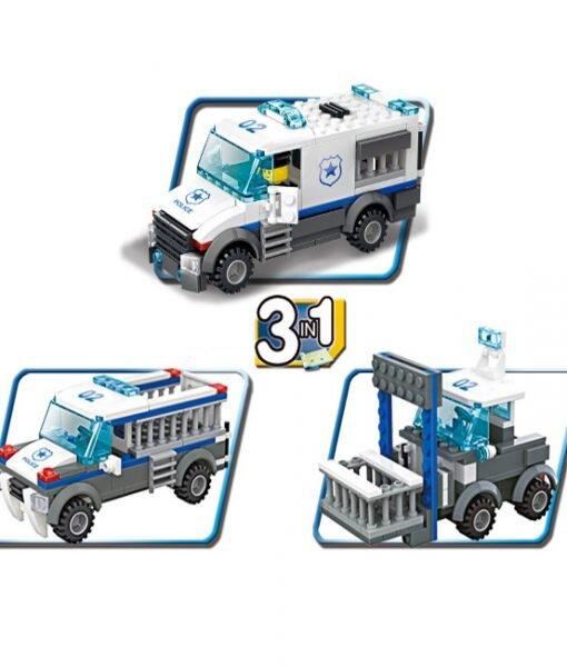Bộ lego xếp hình Wange cảnh sát cơ động 3 in 1