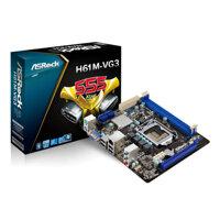 Bo mạch chủ (Mainboard) Asrock H61M-VS3 - Socket 1155, Intel H61, 2 x DIMM, Max 16GB, DDR3
