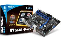 Bo mạch chủ (Mainboard) MSI B75MA-P45 - Socket 1155, Intel B75, 4 x DIMM, Max 32GB, DDR3