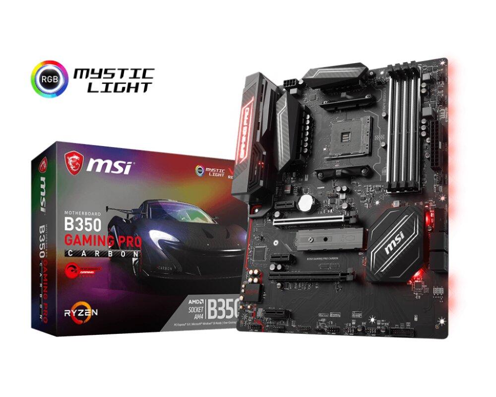 Bo mạch chủ - Mainboard MSI B350 Gaming Pro Carbon