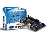 Bo mạch chủ (Mainboard) MSI H61M-P20 (G3) - Socket 1555, Intel H61, 2 x DIMM, Max 16GB, DDR3
