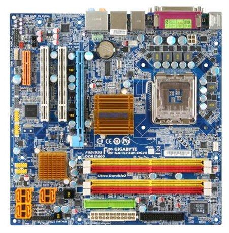 Bo mạch chủ (Mainboard) Gigabyte GA-G33M-DS2R - Socket 775, Intel G33/ICH9R, 4 x DIMM, Max 8GB, DDR2
