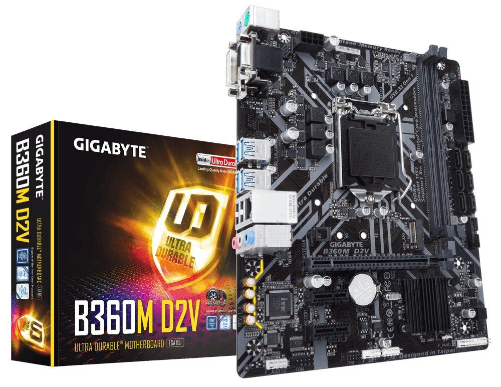 Bo mạch chủ - Mainboard Gigabyte B360M D2V