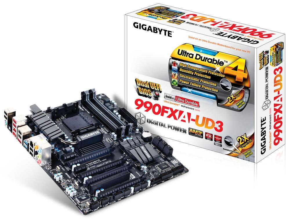 Bo mạch chủ (Mainboard) Gigabyte GA-990FXA-UD3 - Socket AM3, AMD 990FX/SB950, 4 x DIMM, Max 32GB, DDR3