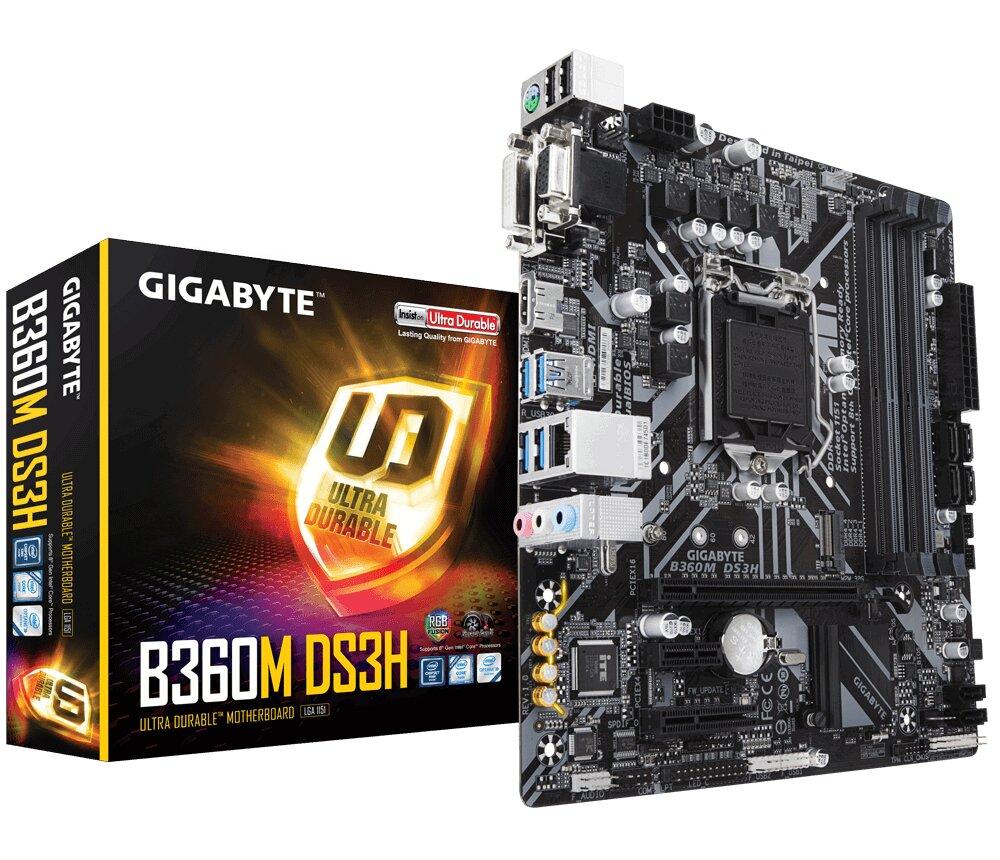 Bo mạch chủ - Mainboard Gigabyte GA-B360M DS3H