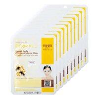 Bộ mặt nạ collagen chiết xuất sữa ong chúa Dermal Royal Jelly Collagen Essence Mask 10 gói/bộ