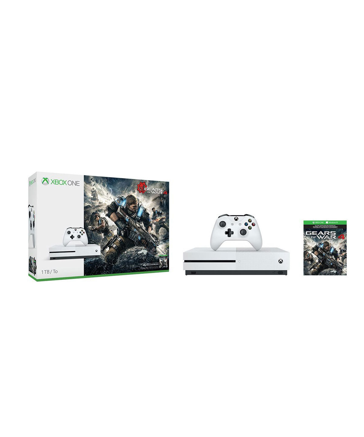 Bộ máy chơi game Microsoft Xbox One S 1TB Console Gears of War 4 Bundle