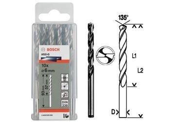 Bộ mũi khoan sắt 10 mũi HSS-G Bocsh 2608595058, 3.5mm