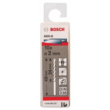 Bộ mũi khoan sắt HSS-G Bocsh 2608595051 - 10 mũi