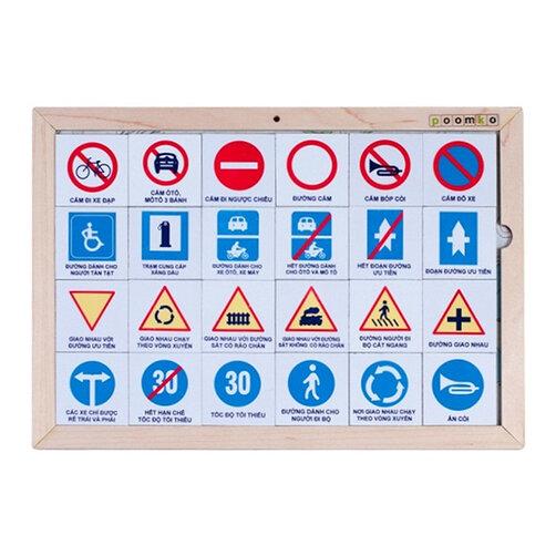Bộ nhận biết 48 biển báo giao thông Poomko EB02.19