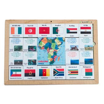 Bộ nhận biết cờ quốc tế Châu Phi-EB02.14