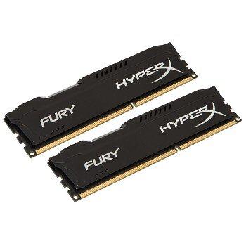 Bộ nhớ trong máy VT Kingston 16G 1600MHZ DDR3 CL10 Dimm kit of 2 HyperX Fury Black,HX316C10FBK2/16