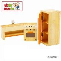 Bộ nội thất nhà bếp bằng tre Benho BH3501C