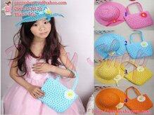 Bộ nón và túi cói xinh đi biển BE018