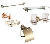 Bộ phụ kiện phòng tắm CleanMax 38000 - Đồng nguyên chất 5 món
