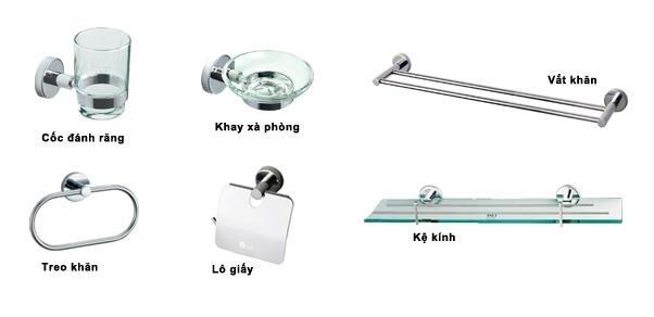 Bộ phụ kiện phòng tắm Đình Quốc DQ8010 (DQ-8010)