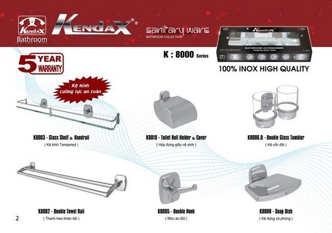 Bộ phụ kiện phòng tắm Kendax K8000