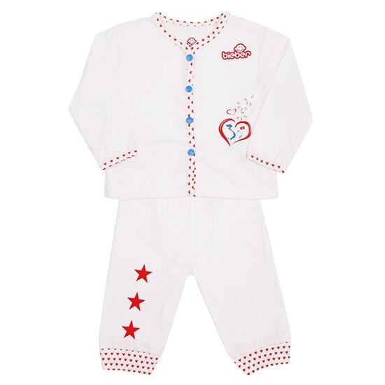 Bộ quần áo mở khuy trái tim Việt Nam số 1 Bieber BI01801B