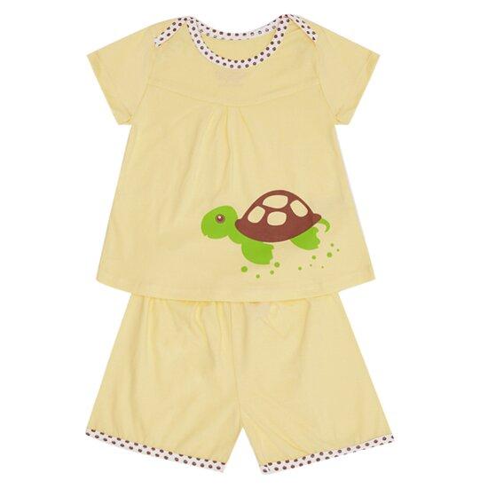 Bộ quần áo mở vai hình con rùa số 4 Bieber BI01604B
