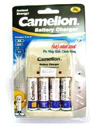 Bộ sạc pin AA, AAA, 9V Camelion BC-0904SM , kèm 4 pin  AA2700mAh