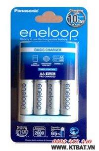 Bộ sạc pin AA Eneloop BQ-CC18 kèm 4 pin