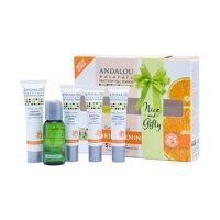 Bộ sản phẩm chăm sóc da thường và da hỗn hợp Andalou Naturals Brightening