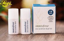 Bộ sản phẩm dưỡng ẩm chống lão hóa Innisfree Eco Science Dual Kit