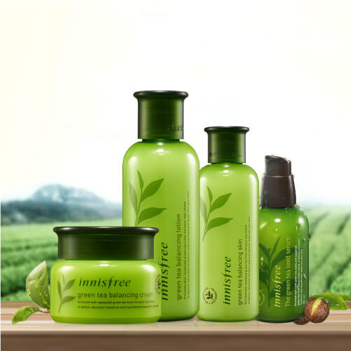 Bộ sản phẩm dưỡng da Innisfree Green Tea Balancing