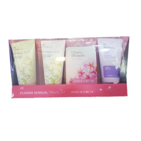 Bộ sản phẩm mỹ phẩm du lịch The face shop Flower Sensual Travel Kit 50ml