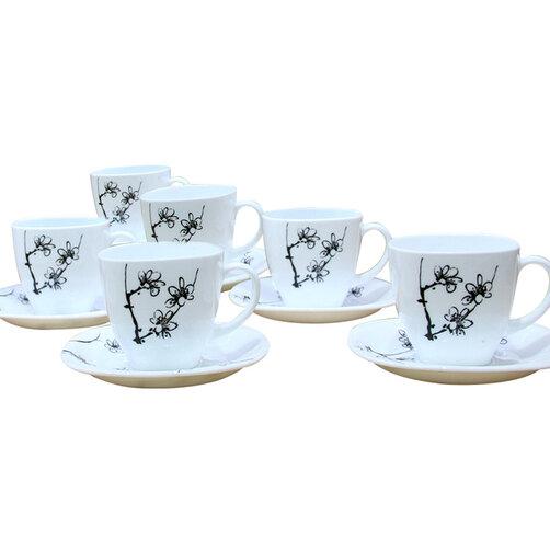 Bộ tách trà sứ thủy tinh Luminarc Carine G2988 220ml